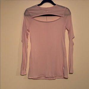 Gymshark Cutout Pink Long Sleeve Shirt